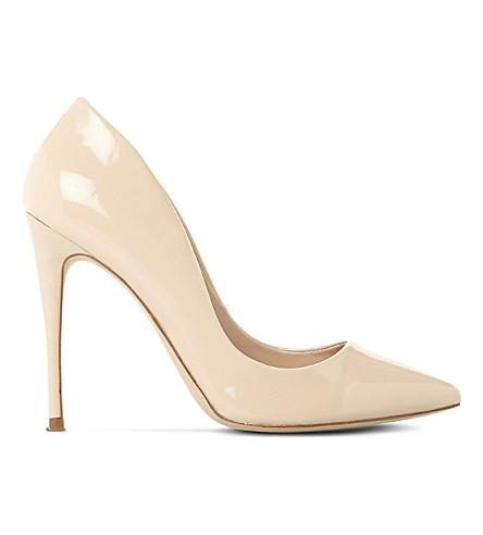 Steve Madden Daisie Patent-leather Heeled Courts In Blush Patent Leather