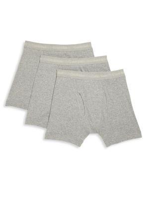 Calvin Klein Underwear 3-pack Cotton Boxer Briefs In Heather Grey