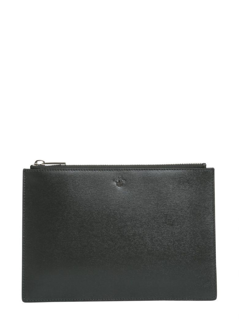Dior Homme Pouch With Bee Signature In Nero