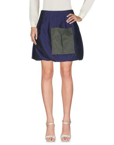 Dondup Mini Skirt In Dark Purple