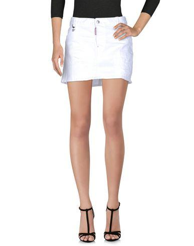 Dsquared2 Denim Skirt In White