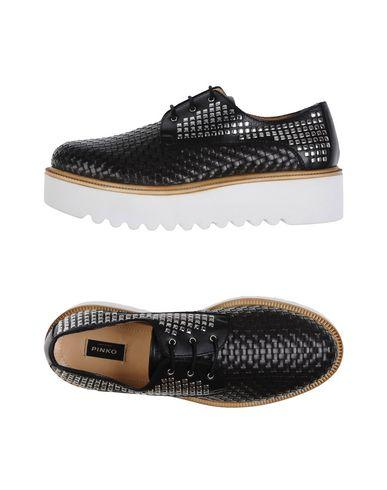 Pinko Lace-up Shoes In Black