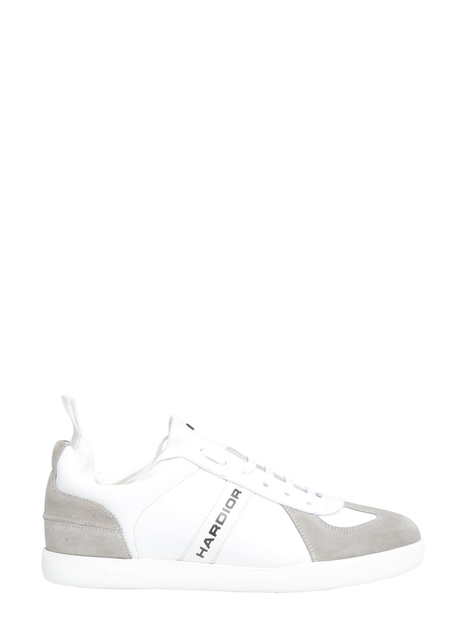 Dior Homme Leather Sneakers In Bianco
