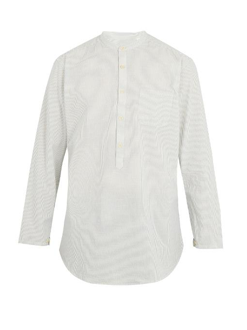 Oliver Spencer Panarea Striped-cotton Shirt In Cream