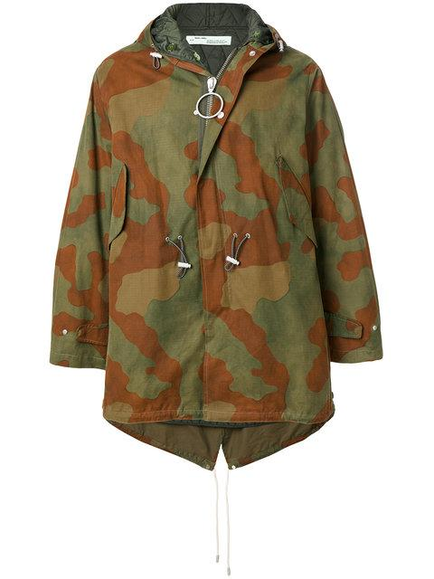 Off-white Camouflage-print Cotton-blend Parka