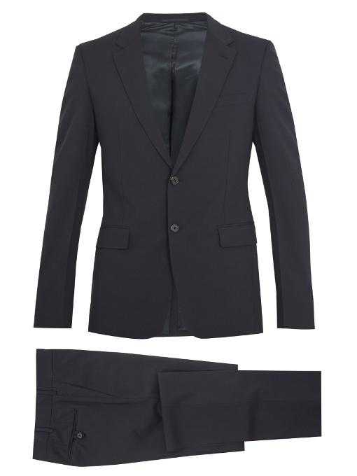 Prada Slim-fit Wool-blend Suit In Navy