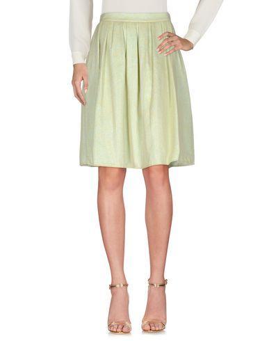Ottod'ame Knee Length Skirt In Light Green