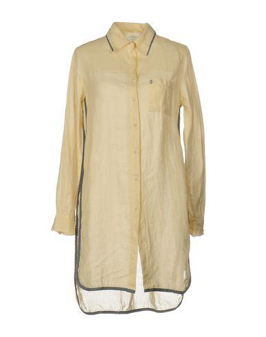 Ottod'ame Solid Color Shirts & Blouses In Beige