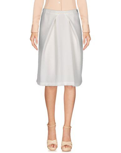 Ottod'ame Knee Length Skirt In White