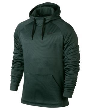 Nike Men's Therma Training Hoodie In Vintage Green/black