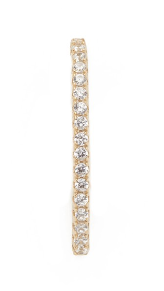 Shashi X Large Pave Ear Cuff In Yellow Gold
