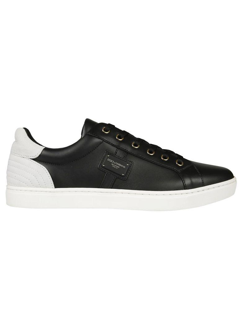 Dolce & Gabbana Dolce E Gabbana Men's  White/black Leather Sneakers In Navy/nero