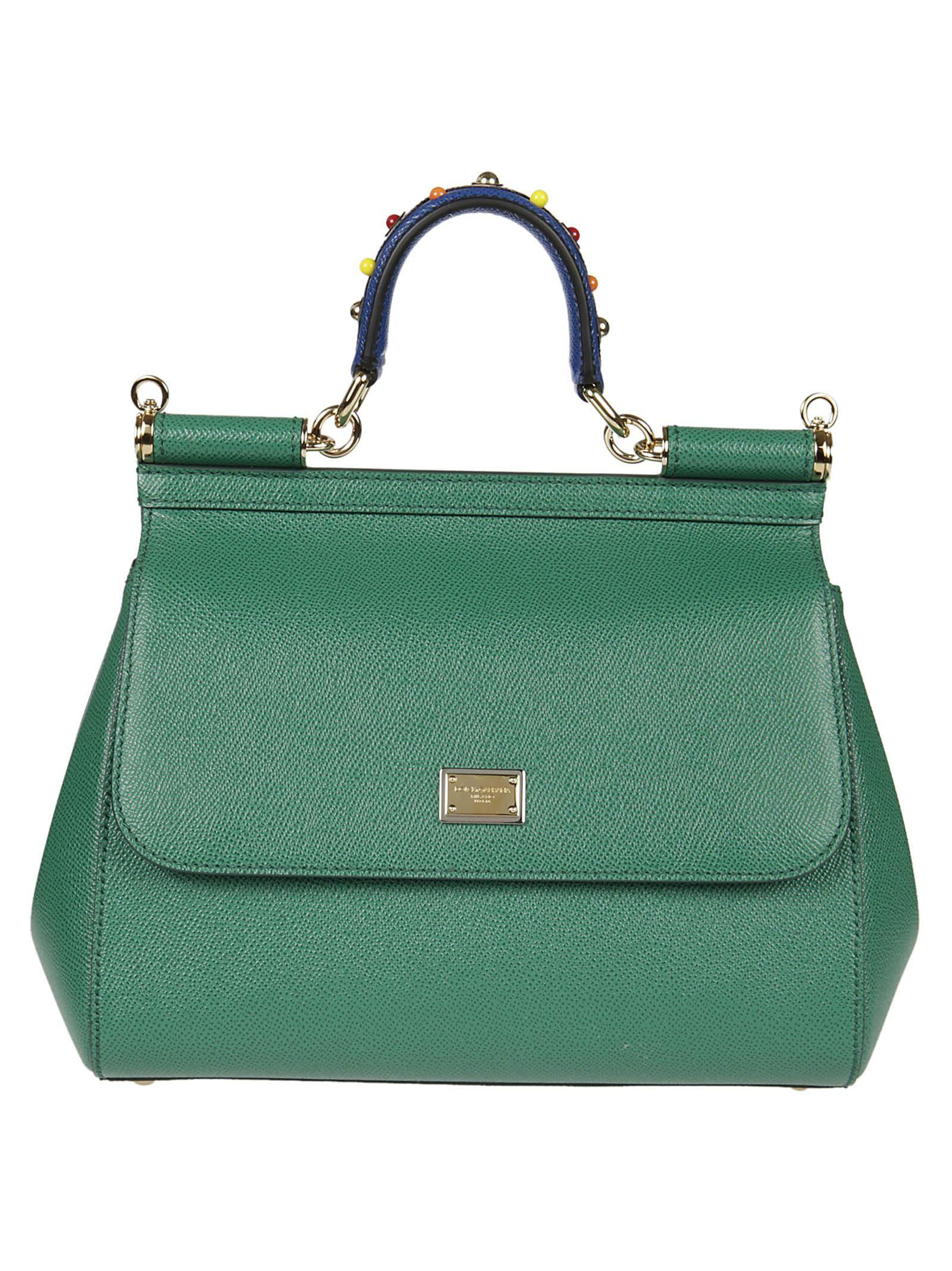 Dolce & Gabbana Beatrice Tote In Verde