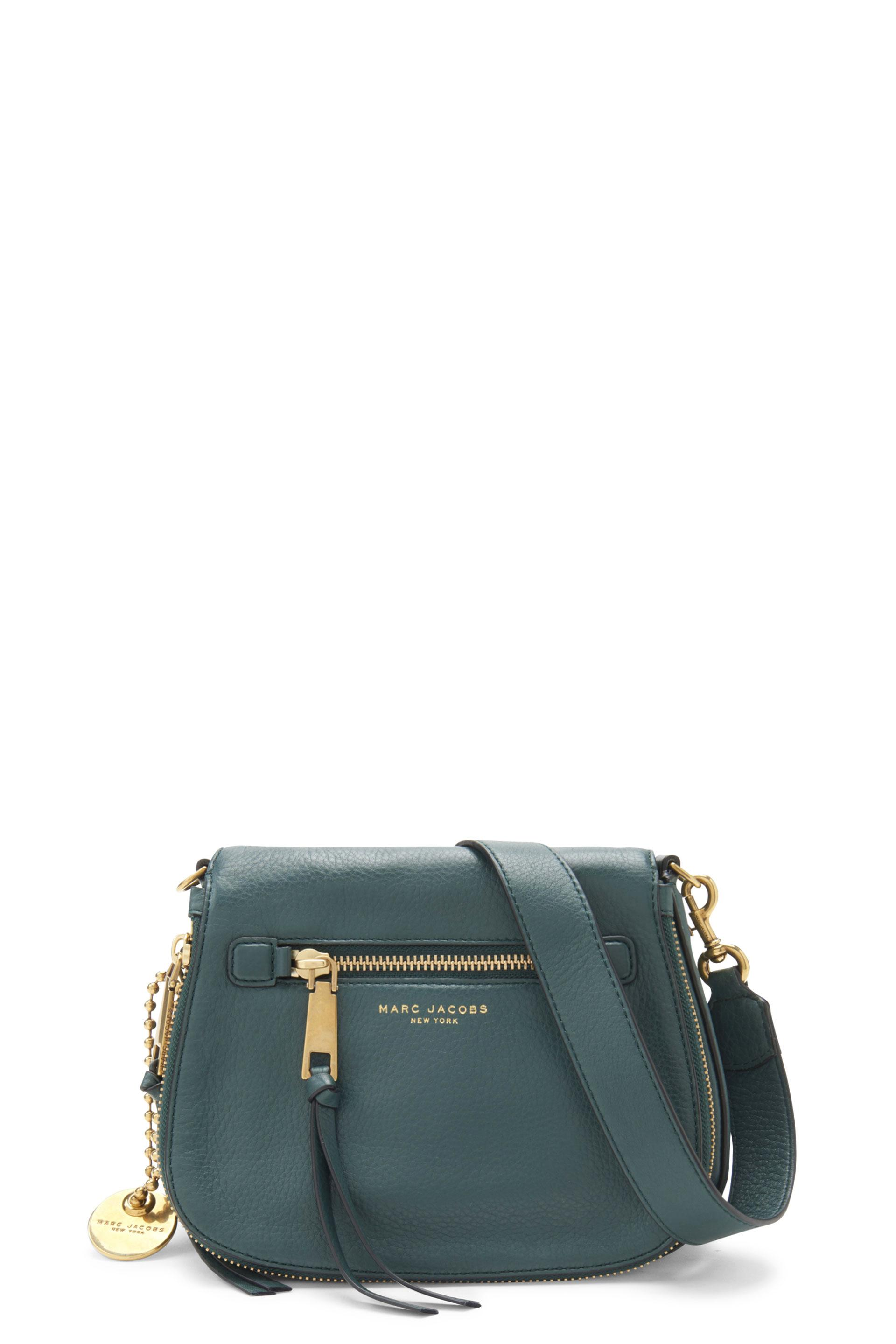 b3b6d18e001162 Marc Jacobs Recruit Small Leather Saddle Bag, Teal In Green Jewel ...