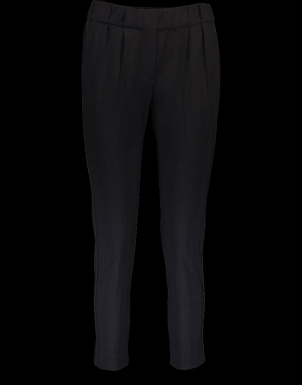 Brunello Cucinelli Pleated Pull-on Pants In Onyx