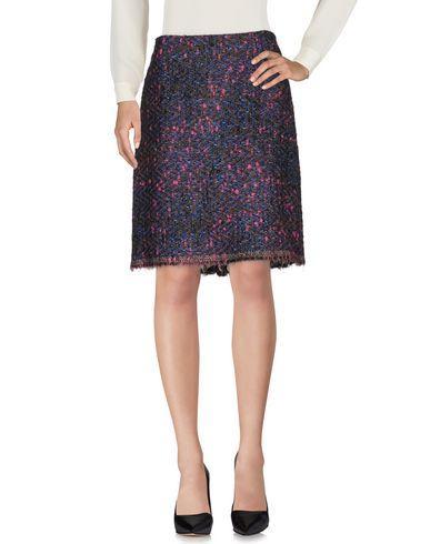 Ottod'ame Knee Length Skirt In Blue