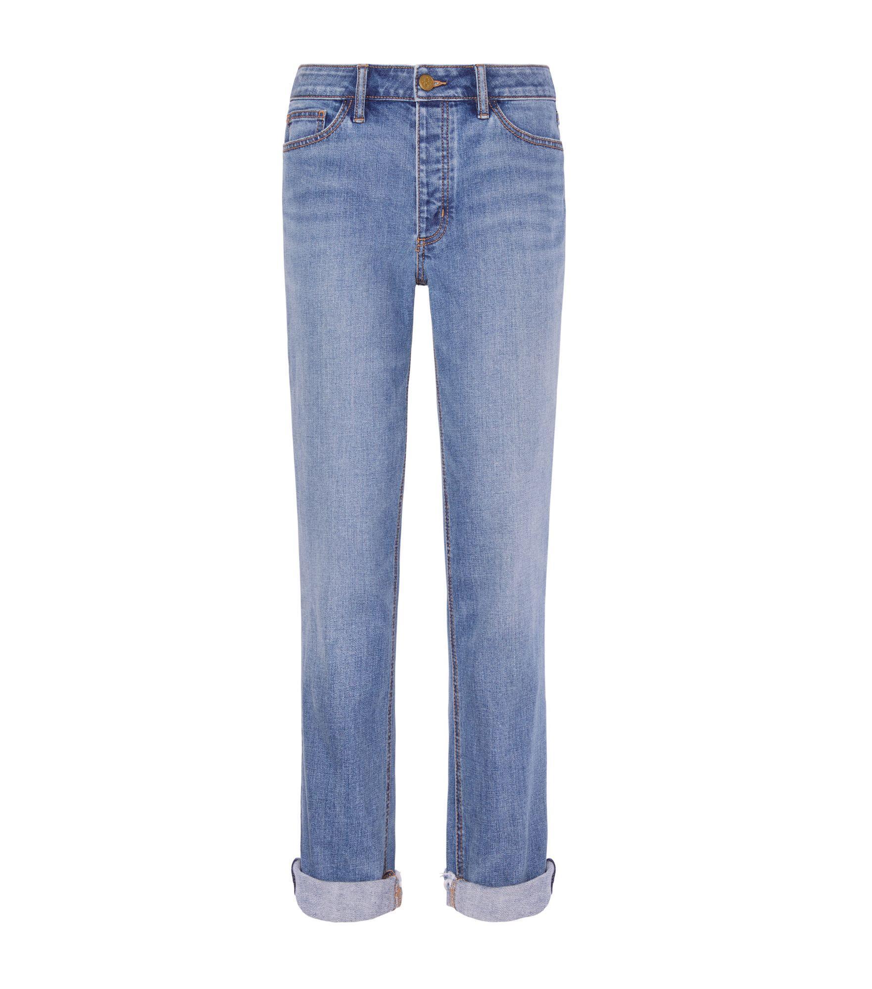 Tory Burch Serena Slouchy Straight-leg Jean In Dusk Blue Wash
