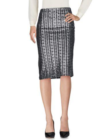 Ottod'ame Knee Length Skirt In Silver