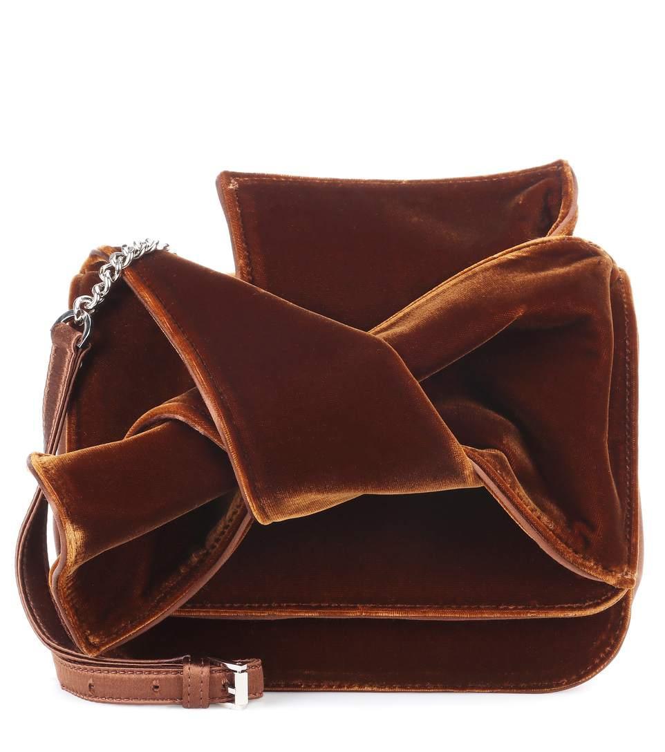 N°21 Velvet Shoulder Bag In Brown