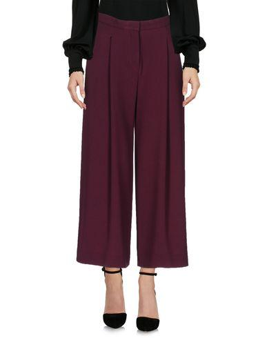 Ottod'ame Cropped Pants & Culottes In Maroon