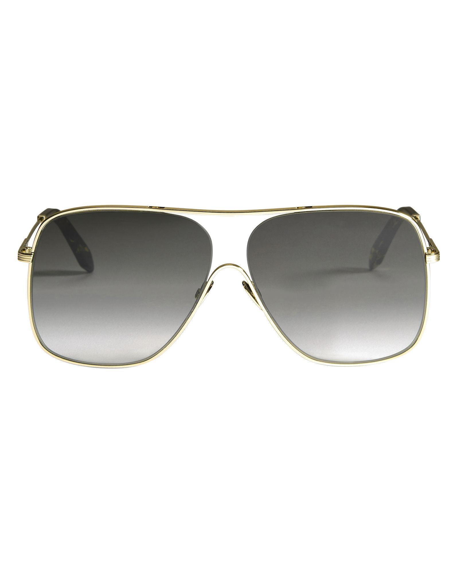Victoria Beckham Gold Loop Navigator Sunglasses