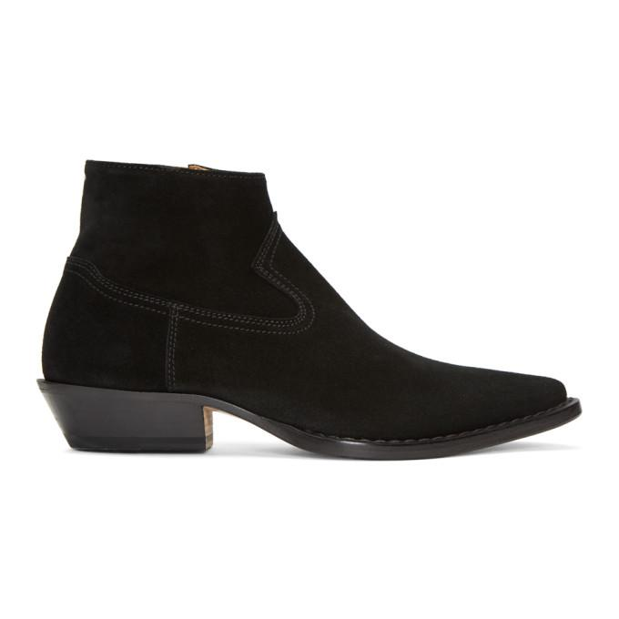 Maison Margiela Western Ankle Boots In 900 Black