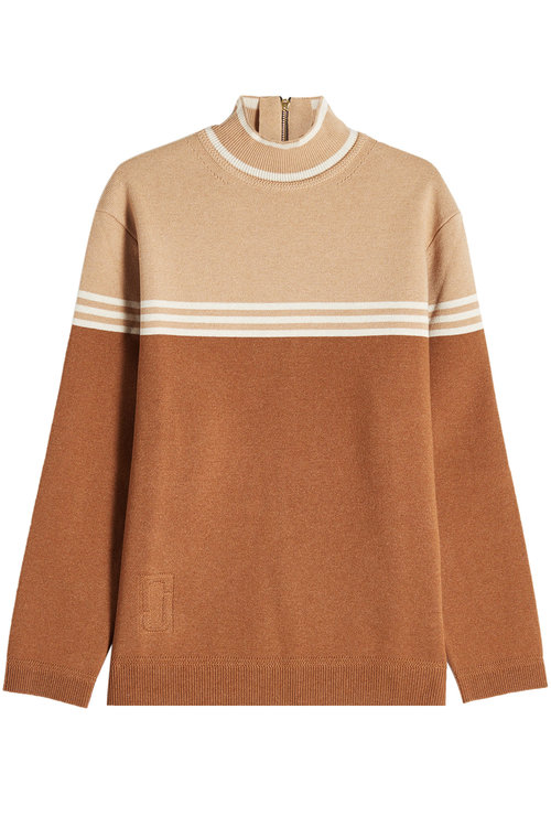 Marc Jacobs Wool Turtleneck Pullover In Camel