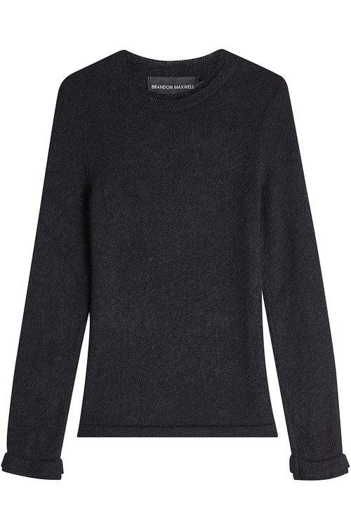 Brandon Maxwell Mohair Pullover In Black