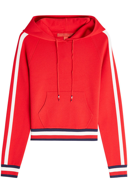 Tommy Hilfiger Jersey Hoodie In Red