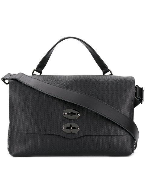 Zanellato Textured Laptop Bag - Black