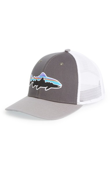 80868a9e66aff Patagonia  Fitz Roy - Trout  Trucker Hat - Grey In Forge Grey  Feather
