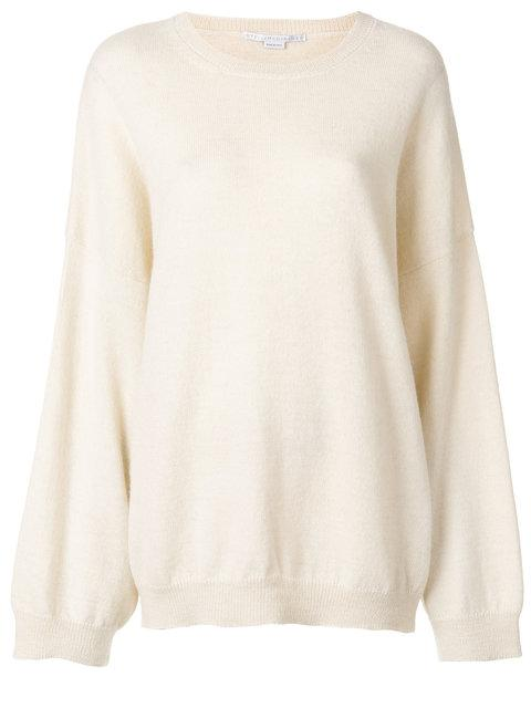 Stella Mccartney Oversized Crew Neck Sweater - White