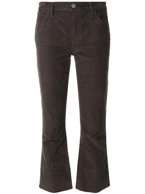 Current Elliott Cropped Flared Jeans In Black