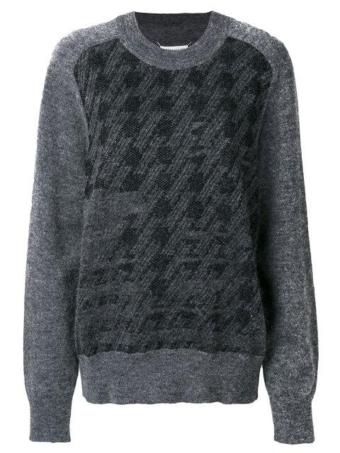 Maison Margiela Classic Embroidered Sweater - Grey