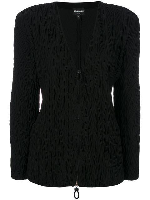 Giorgio Armani Padded Shoulder Jacket - Black