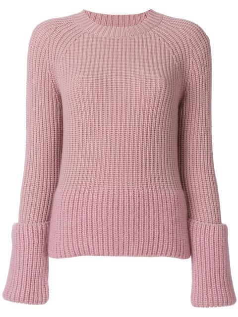 Moncler Rib-knit Sweater In Blush