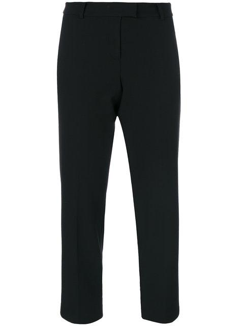 Michael Kors Cropped Trousers In Black