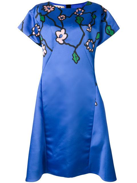 Marni Graphic Floral Print Dress