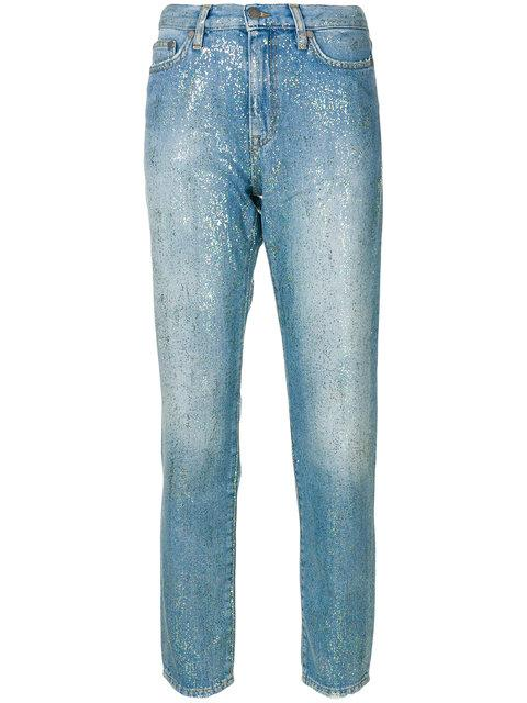 Mira Mikati High-rise Glitter Jeans - Blue