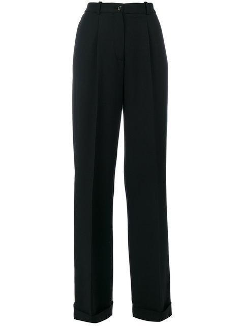 Ermanno Scervino Wide Leg Trousers - Black