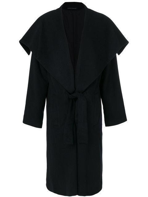 Yohji Yamamoto Layered Tailored Coat In Black