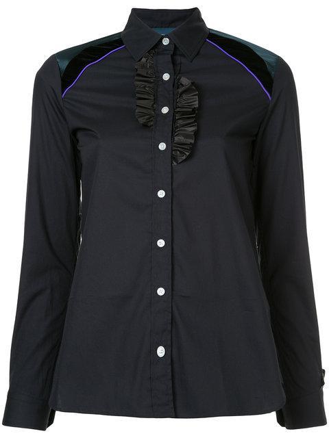 Kolor Frill Detail Shirt - Blue