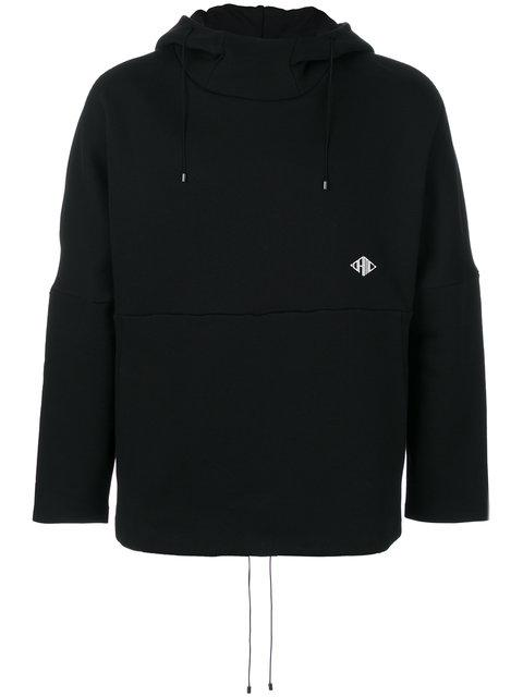 Oamc Cotton Hoodie In Black