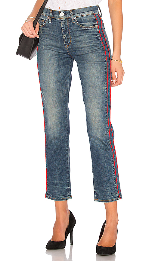 Hudson Zoey High-rise Ankle Straight-leg Jeans W/ Side Stripe In Reform
