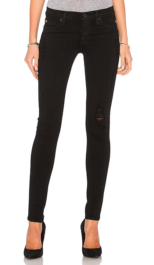 Hudson Krista Distressed Skinny Jeans In Semi Sweet In Semi-sweet