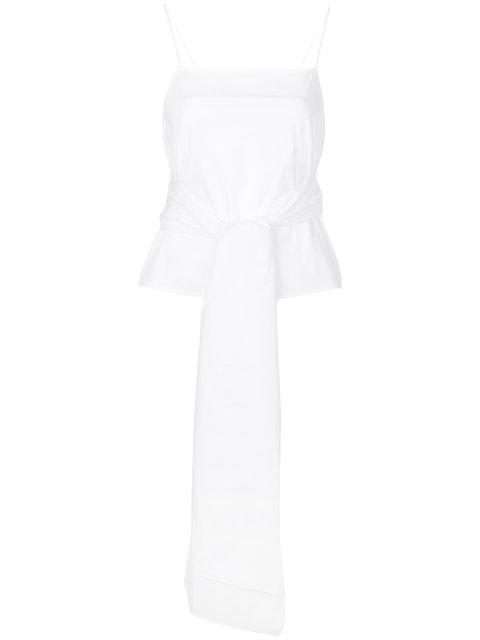 Elizabeth And James Tie-waist Vest Top - White