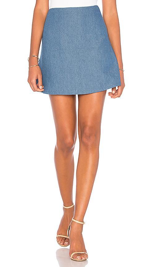 Clayton Lucille Mini Skirt In Blue