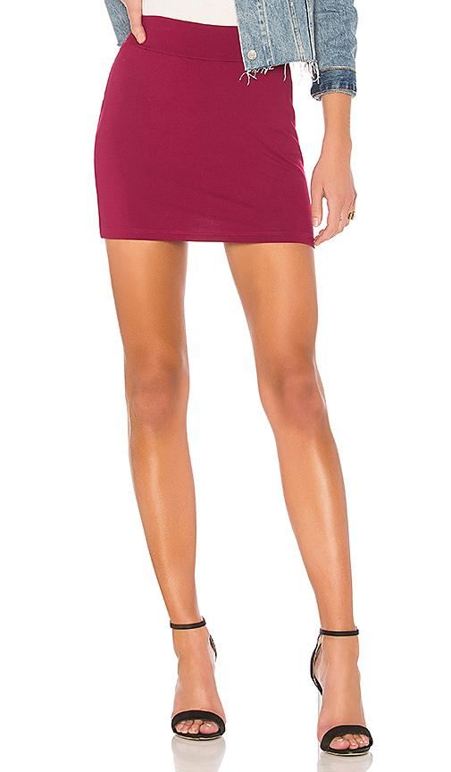 Susana Monaco Slim Skirt In Wine