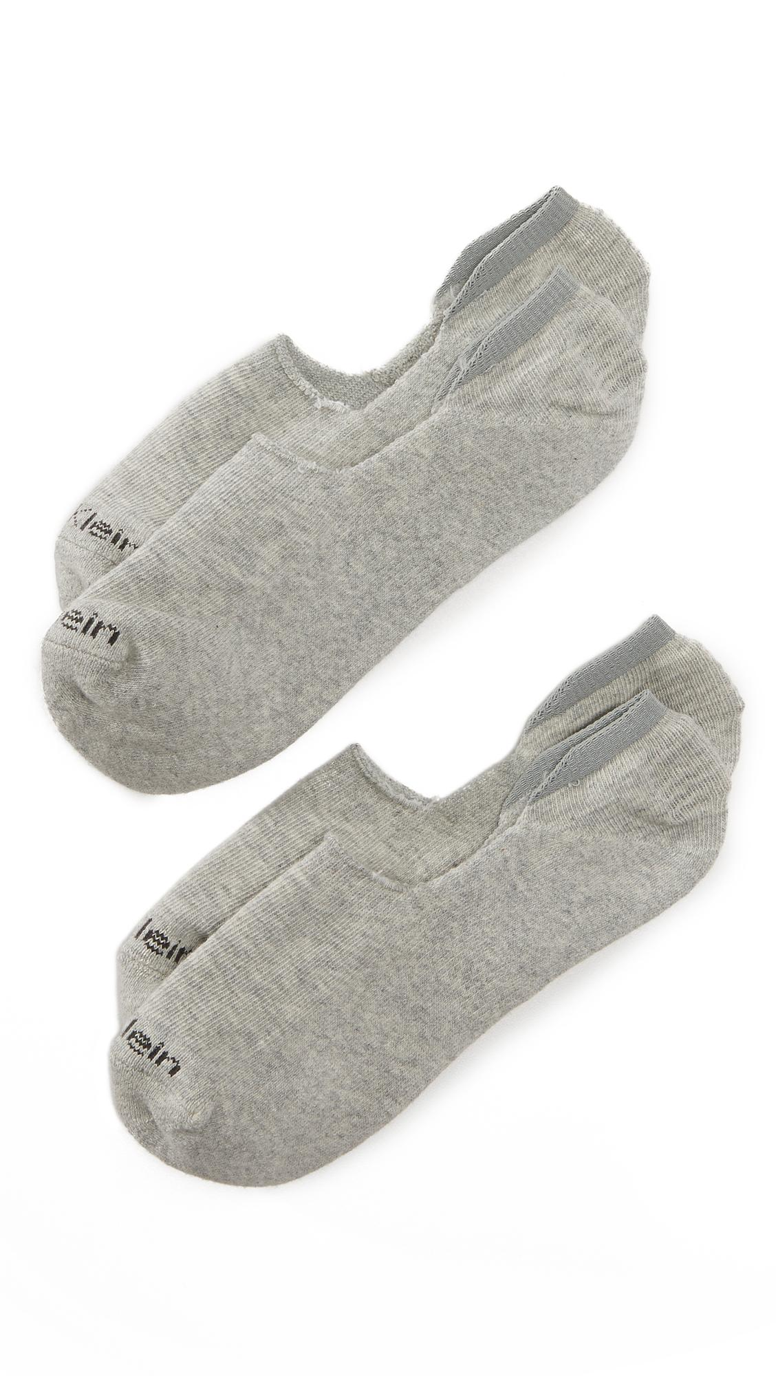 Calvin Klein Underwear 2 Pack Cushion No Show Socks In Oxford Heather