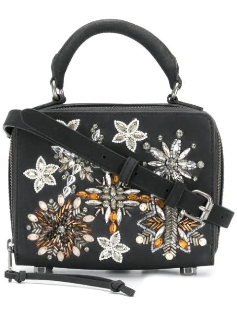 Rebecca Minkoff Embellished Box Cross Body Bag In Black